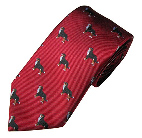 Bernese Mountain Dog Tie (Men's Dog Breed Neck Tie) - Mountain Dog Tie