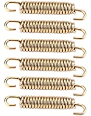 Aramox Exhaust Pipe Hooks, 6pcs Stainless Steel Muffler Exhaust Pipe Spring Hooks for Motorcycle Scooter ATV