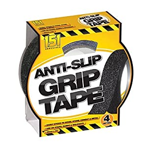 ANTI SLIP GRIP TAPE INDOOR OUTDOOR 25MM x 4M ADHESIVE ABRASIVE GRIT