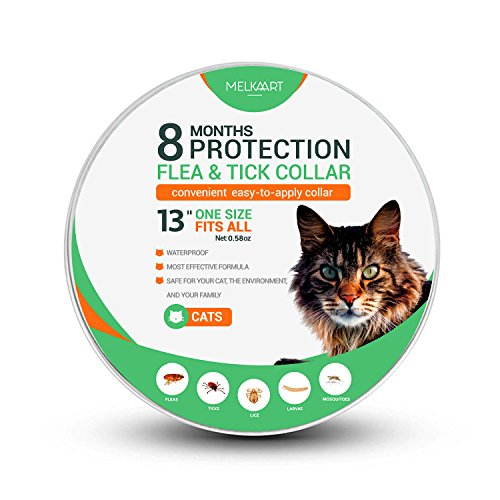 Melkaart Collar for Cats - Control and Treatment for Cats - 8 Months Protection - Hypoallergenic and Safe Design - One Size Fits All - Waterproof Collar - Kittens, Adults, and Senior Cats