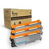 V4INK 3 Packs Compatible Brother TN660 TN630 Toner Cartridge For Brother DCP-L2540DW MFC-L2700DW HL-L2340DW L2360DW L2300D L2720DW L2740DW L2380DW L2500D DCP-L2520DW Printer Series (Black, 3-Pack)