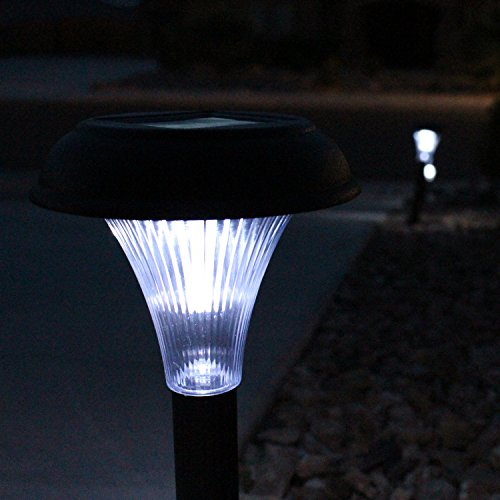 GardenBliss Best Solar Lights For Outdoor Pathway, 10 Brightest Light Set For Walkway, Patio, Path, Lawn, Garden, Yard Decor, Double Waterproof Seal, Large Led Landscape Outside Post Lighting Lamps by GardenBliss (Image #9)