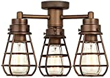 Bendlin Industrial Oil-Rubbed Bronze Ceiling Fan Light Kit