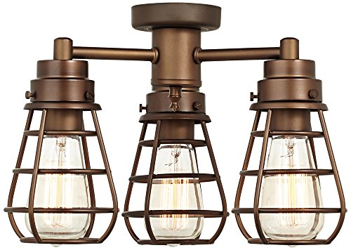 Bendlin Industrial Oil-Rubbed Bronze Ceiling Fan Light Kit by Universal Lighting and Decor