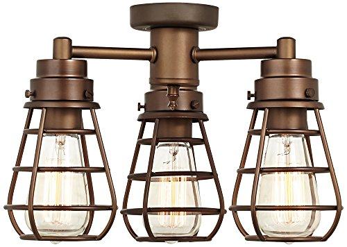Bendlin Industrial Oil-Rubbed Bronze Ceiling Fan Light Kit