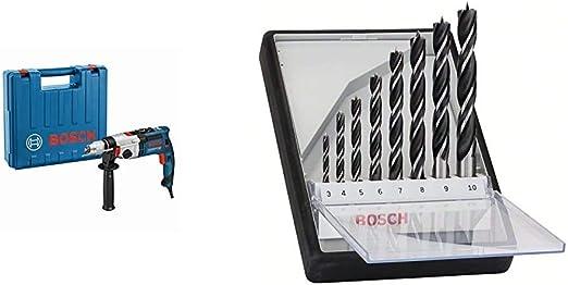 +Bosch Pro 7tlg Betonbohrer-Set CYL-5 Robust Line Bosch Professional Schlagbohrmaschine GSB 21-2 RCT Schnellspannbohrfutter: 13 mm, Tiefenanschlag: 210 mm, Zusatzhandgriff, Koffer, Bohr-/Ø in Beton: 13-22 mm, 1300 Watt