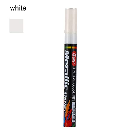 Universal PURPLE Paint Marker Oil Based Waterproof Pen Wood Glass Plastic Tyre G