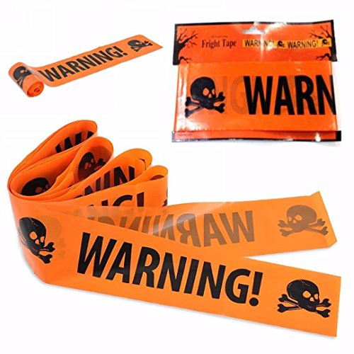 XENO-Halloween Party Warning Tape Signs Decoration Window Prop Decoration Plastic