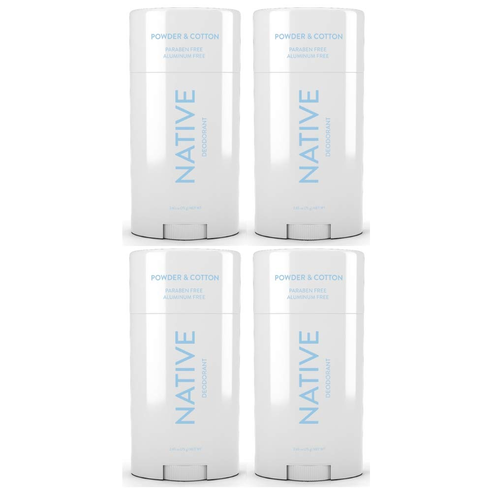 Native Deodorant Powder & Cotton 2.65oz (4 pack)