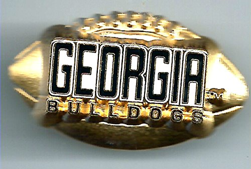 Georgia Bulldogs Gold Football Pin NCAA (Gold Georgia Bulldogs Football)
