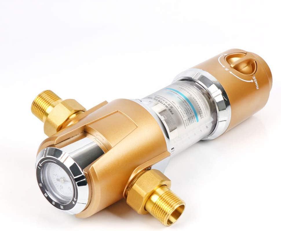 LZH FILTER Spin Down Filtro de Agua de Sedimentos Grifo Purificador de Agua Prefiltro Filtro de Sedimentos para Pozo de Agua Filtro de Sedimentos,K101:1//2 MNPT=20mm