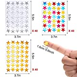120 Sheets 4200 Count Star Stickers Self-Adhesive