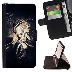 For Sony Xperia Z2 D6502,S-type Diseño Líneas abstractas- Dibujo PU billetera de cuero Funda Case Caso de la piel de la bolsa protectora