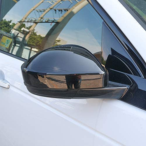 ABS Chrome Side Rearview Mirror Decorative Cover Trim 2pcs for Jaguar F-Pace X761 for Land Rover Discovery Sport for RR Evoque?Gloss Black HANBUN