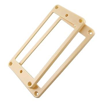 Sharplace Anillo de Montaje Plano de Humbucker Pickup Pastillas para Guitarra Eléctrica - Color Blanco/Oro - Oro: Amazon.es: Instrumentos musicales