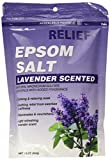 Relief Md Epsom Salt – Lavender Scented, Natural Magnesium Sulfate Crystsals with Added Fragrance, 16 Oz