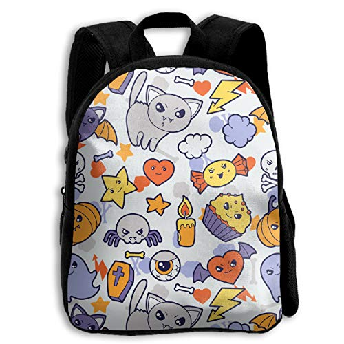 The Children's Cute Halloween Cat Cake Candy Backpack -