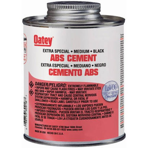Abs Plastic Glue (Oatey 30916 ABS Extra Special Cement, Black, 4-Ounce)