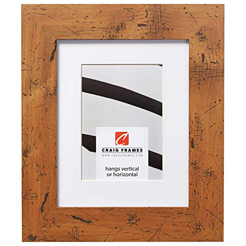 Craig Frames Bauhaus 200, 18 x 24 Inch Light Walnut Brown Picture Frame Matted to Display a 12 x 18 Inch Photo