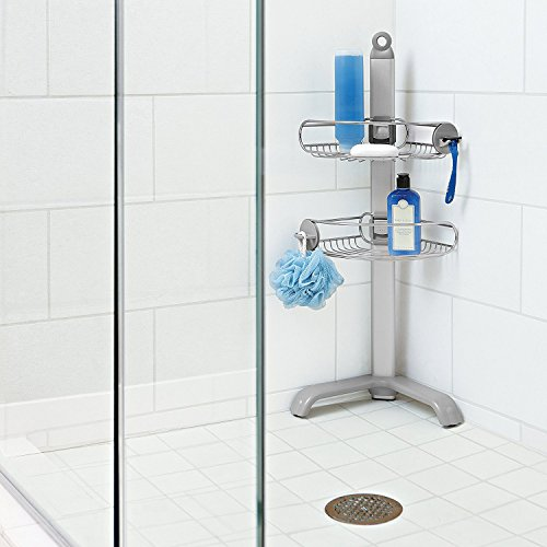 Amazon.com: Simplehuman Corner Shower Caddy, Adjustable Shelves, Stainless  Steel And Anodized Aluminum: Home U0026 Kitchen