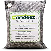 Natural Air Purifying Bag 200-Grams, Camdeez Odor Eliminator for Cars, Closets, Bathrooms and Pet Areas. Captures and Eliminates Odors.