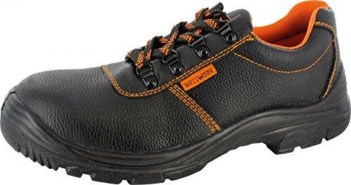 S3 Halbschuhe schwarz / orange 41