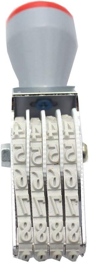Number Stamp, 4 Digits Roller Stamp Personalized Digit Number Symbol Rolling Wheel Stamp Multi-Function DIY Scrapbooking Ink Stamp
