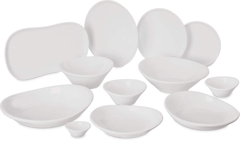 Greige Pack of 12 9.5 Carlisle 5300480 Stadia Melamine Pasta Plate