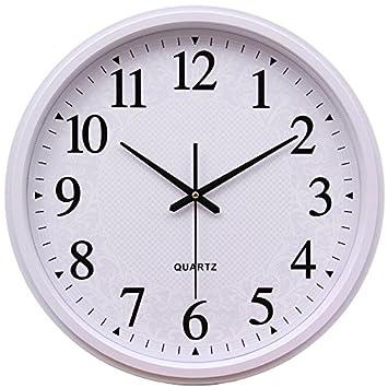 Reloj de pared Reloj de pared calendario dibujo alrededor del reloj de pared creativo gráfico electrónico silencio reloj de cuarzo, 1: Amazon.es: Hogar