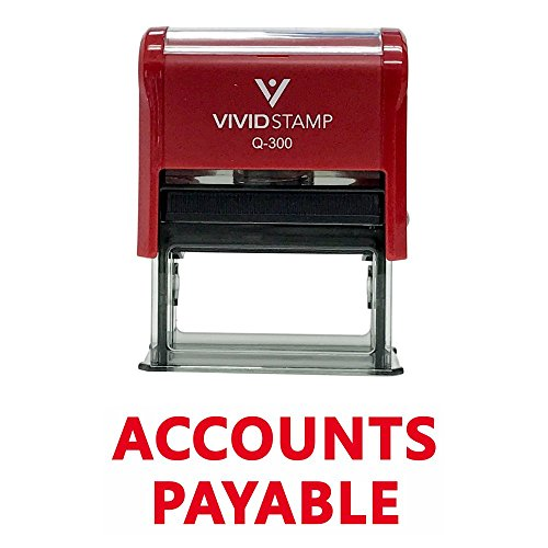 Accounts Payable Self Inking Rubber Stamp (Red Ink) - ()