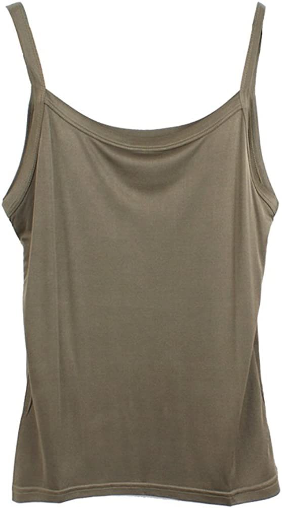 Forever Angel Womens Basic Solid 100/% Silk Camisole Cami Tank Top