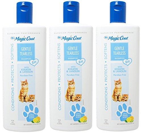 Tearless 12 Shampoo Ounce - (3 Pack) Four-Paws Magic Coat Cat Tearless Shampoo, 12-Ounce Each