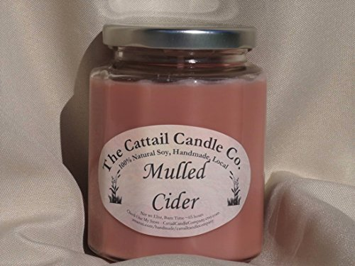 Candle Cattail (Mulled Cider - 100% Soy Candle, 12 fl oz)