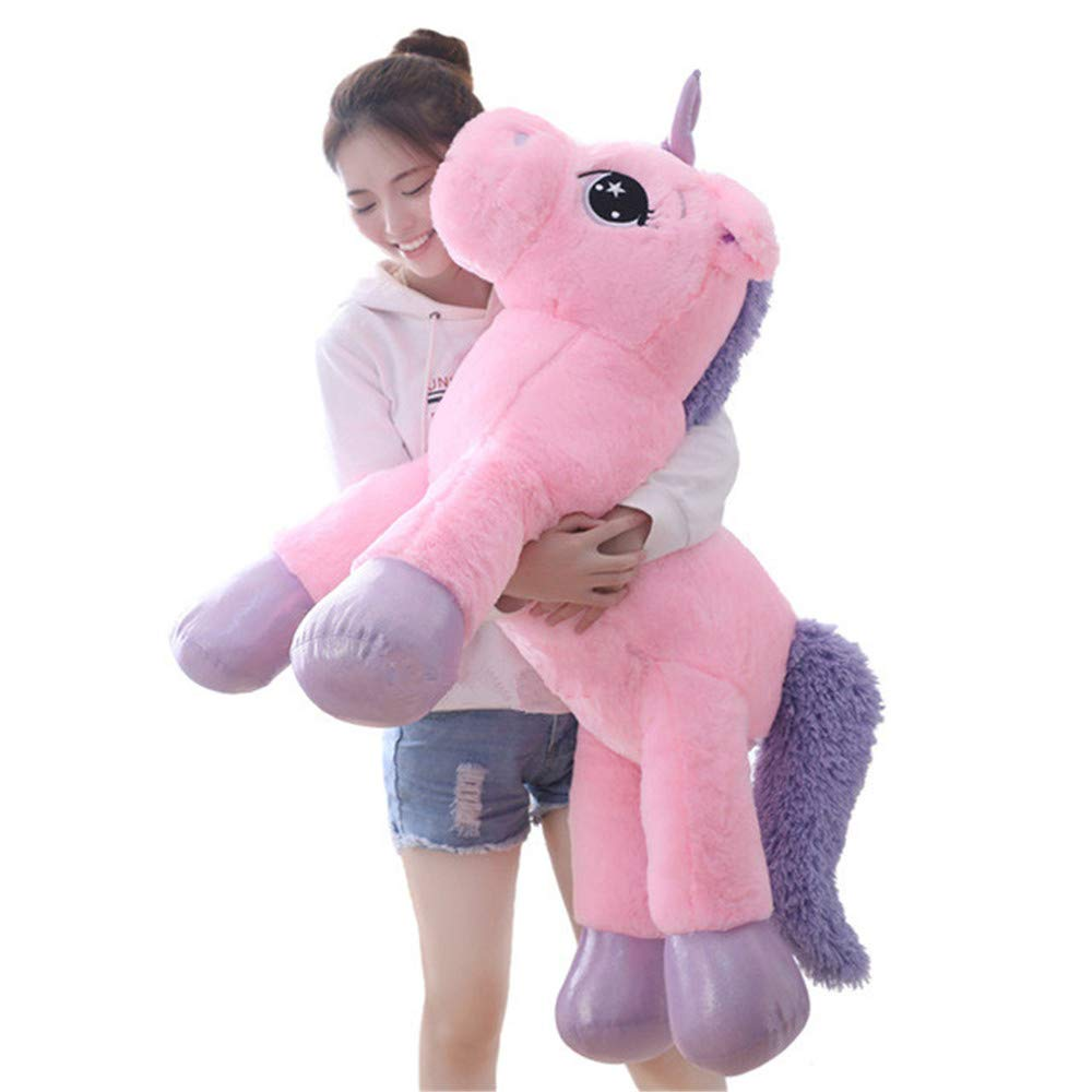 sofipal Giant Unicorn Stuffed Animal Toys,Large Pink Unicorns Plush Pillow Cushion for Birthday,Valentines,Bedroom 43'' by sofipal