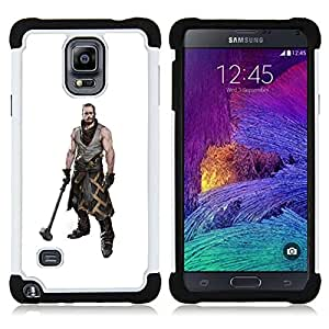 For Samsung Galaxy Note 4 SM-N910 N910 - HAMMER WARRIOR MAN MUSCLES MASCULINE ART Dual Layer caso de Shell HUELGA Impacto pata de cabra con im??genes gr??ficas Steam - Funny Shop -
