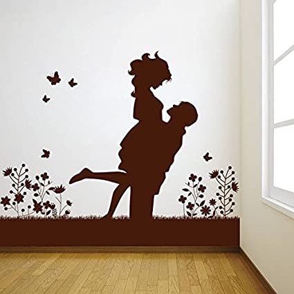 Buy Decor Kafe Home Decor Lovely Couple Wall Sticker Wall Sticker