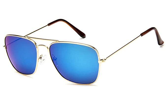 Aviator Sonnenbrille mit blau getönten Gläsern