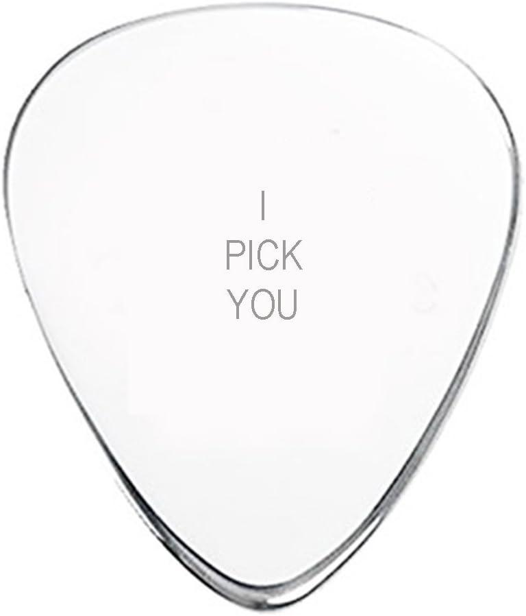 I pick you púa de guitarra mano con sello personalizado con fecha ...