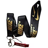 Nike Key Chain Keyring Neck Straps Lanyard(Black with Gold)-with Red Bottle Opener Keychain