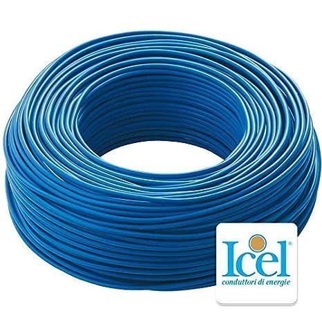 4 mm, Blu Cavo Icel Elettrico Unipolare Isolante FS17 per impianti casa aziende edili matassa da 100 metri