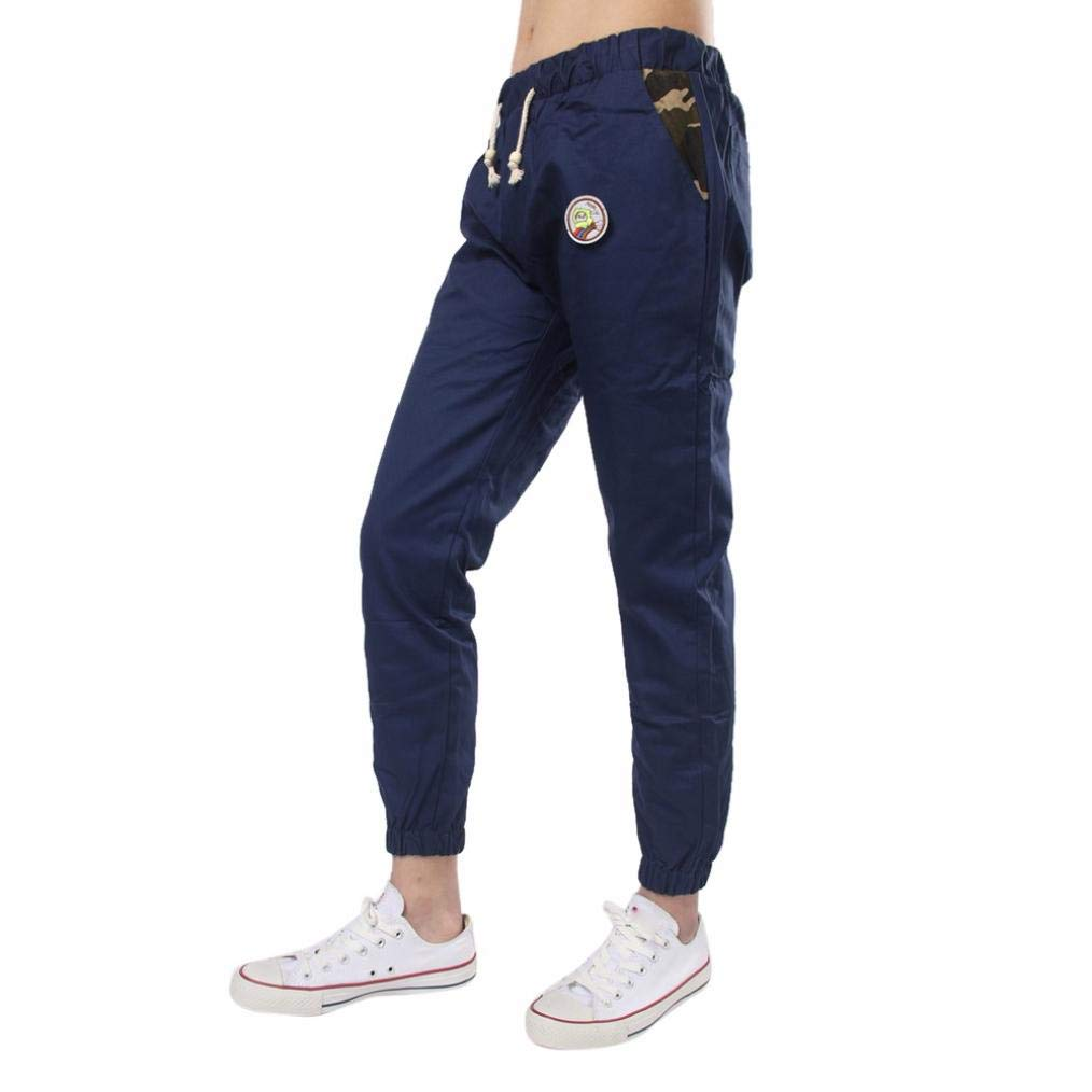 Realdo Clearance Casual Slim Solid Sweatpants Loose Fashion Jogger Pant Sportwear Comfy for Men(XX-Large,Navy)