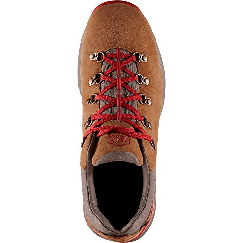 Danner Womens Mountain 600 Low 3 Brown/Red Vibram (62263) Sole Outdoor Boots | Waterproof |Hiking Combat Boot | Mountain Boot | Downhill Braking and Side-Hill Traction XqK6AKc