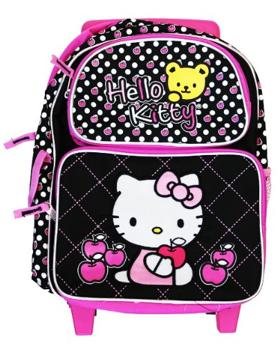 Hello Kitty Rolling BackPack - Sanrio Hello Kitty Rolling School Bag Small