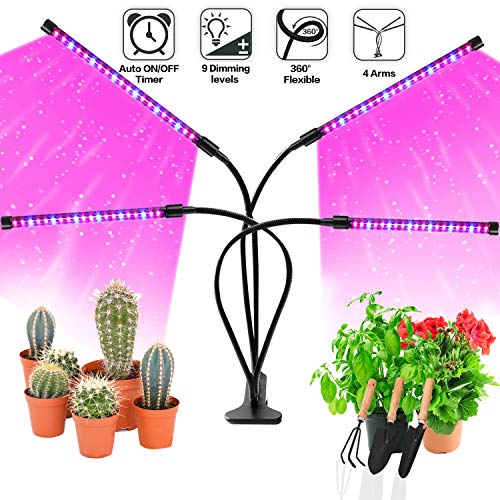 Grow Light Bulb Indoor Plant - Grow Light For Indoor Plants - Led Grow Light - Plant Lights With Clip - Growing Lamp For Plants Growth with Timer (Plants Indoor Grow)