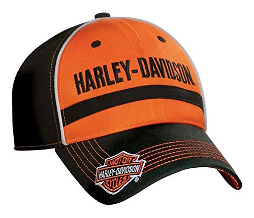 harley-davidson-mens-baseball-cap-embroidered-hd-script-black-orange-bc51664
