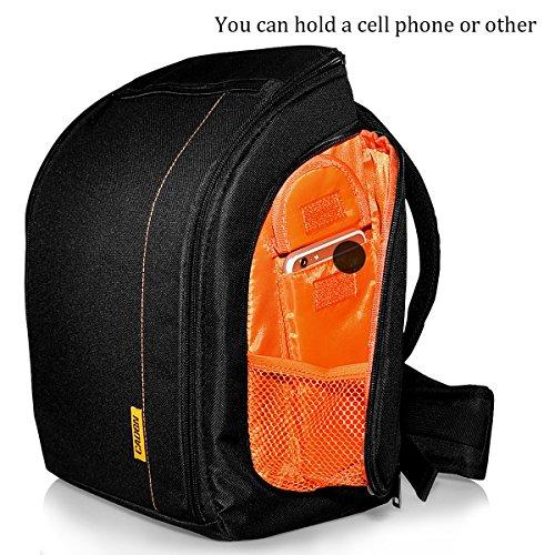 Bolsa para Camara Reflex y Accesorios, Funda para Camara DSLR SLR Con Correa Protectora Impermeable Caden D8 Digital Camera Bag For Sony Canon Nikon Pentax Nailon Negro, by LC Prime