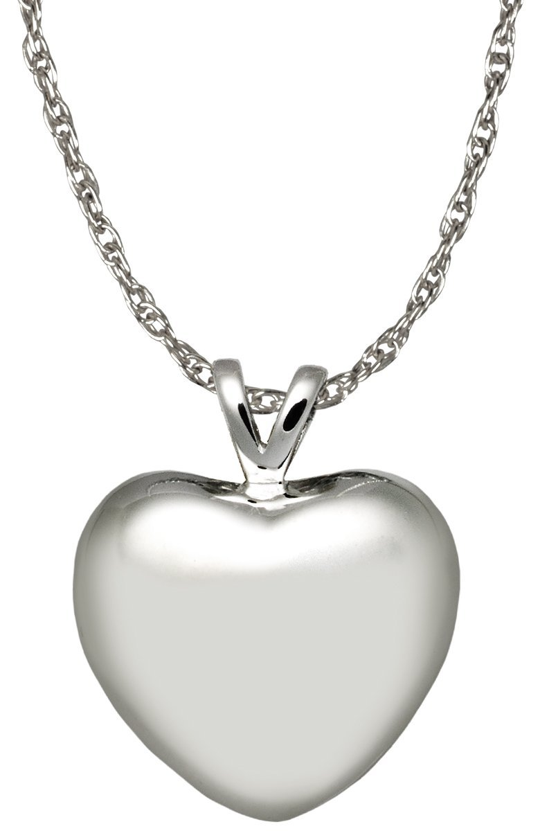 Memorial Gallery 3107s Strong Heart Sterling Silver Cremation Pet Jewelry