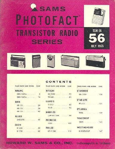 Sealed Sams Photofact, July 1965, TSM-56 Transistor Radio Series (Antique Transistor Radios)