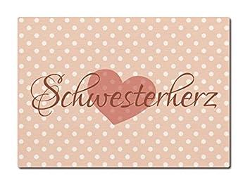 Luxecards Postkarte Aus Holz Schwesterherz Geburtstag Geschenk