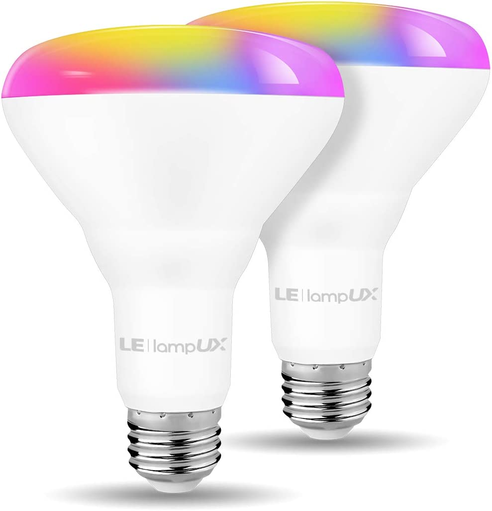 LED Flood Light Bulbs, WiFi Smart BR30 Bulb, Works with Alexa Google Home, RGBW Color Changing Lights, 9.5W 65W, 750 Lumens, Dimmable Recessed Can Light Bulbs, E26 Base 2 Pack